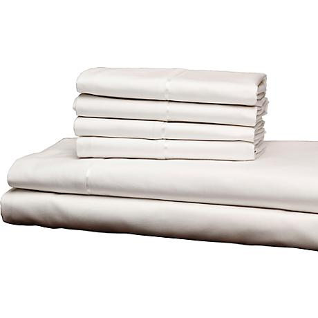 Single Ply 400 Thread Count White Sheet Set
