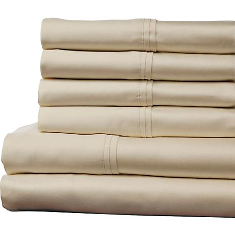 Single Ply 400 Thread Count Soothing Ivory Sheet Set