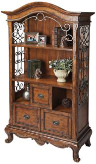 Connoisseur's Country French Bookcase (3T602)