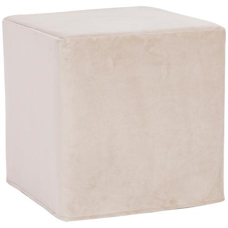 Howard Elliott Bella Sand Short No Tip Block Ottoman