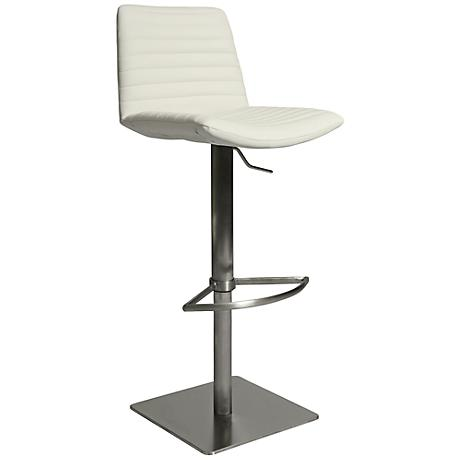 Impacterra Berkeley Swivel Adjustable Height Ivory Barstool