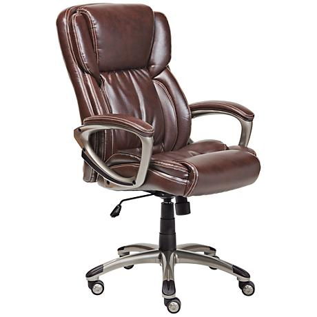Serta Biscuit Brown Supple Executive Office Chair