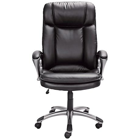 Serta Smooth Black Executive Big and Tall Office Chair