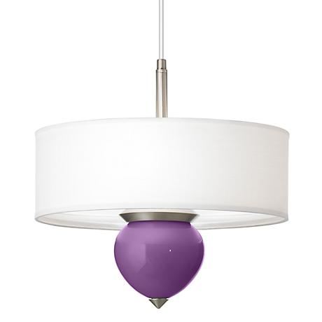 "Passionate Purple Cleo 16"" Wide Pendant Chandelier"