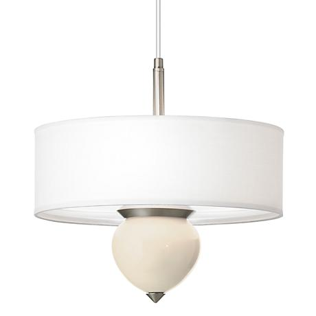 "Steamed Milk Cleo 16"" Wide Pendant Chandelier"