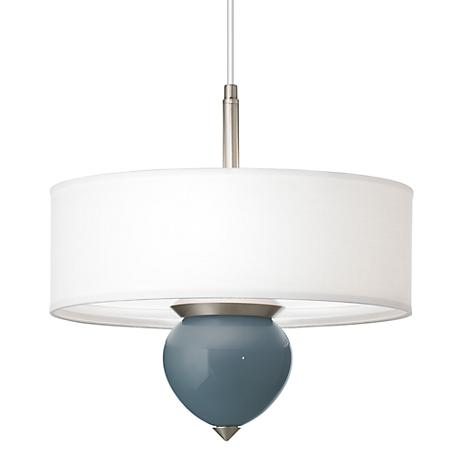 "Smoky Blue Cleo 16"" Wide Pendant Chandelier"