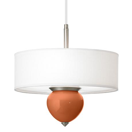 "Robust Orange Cleo 16"" Wide Pendant Chandelier"