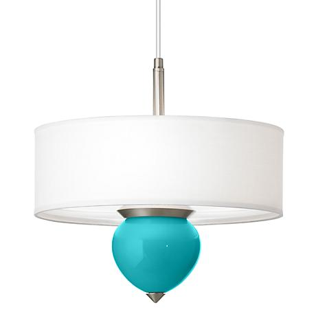 "Surfer Blue Cleo 16"" Wide Pendant Chandelier"