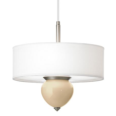 "Colonial Tan Cleo 16"" Wide Pendant Chandelier"