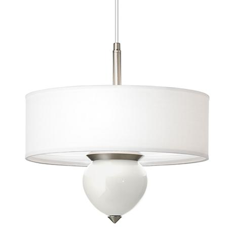 "Winter White Cleo 16"" Wide Pendant Chandelier"
