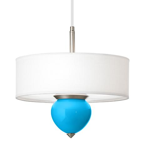 "Sky Blue Cleo 16"" Wide Pendant Chandelier"