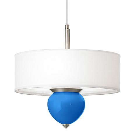 "Royal Blue Cleo 16"" Wide Pendant Chandelier"
