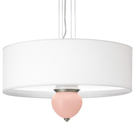 "Rose Pink Cleo 24"" Wide Pendant Chandelier"