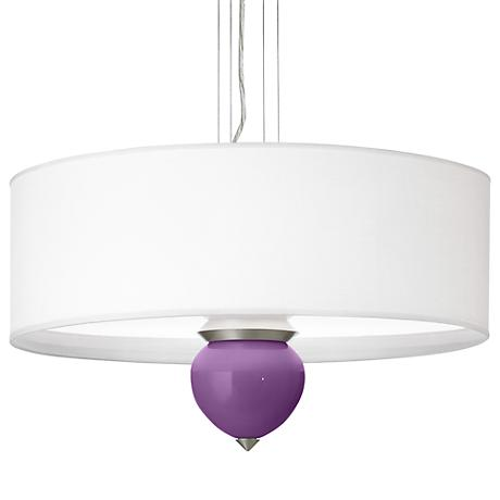 "Passionate Purple Cleo 24"" Wide Pendant Chandelier"