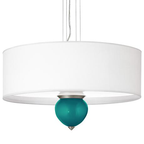 "Magic Blue Metallic Cleo 24"" Wide Pendant Chandelier"
