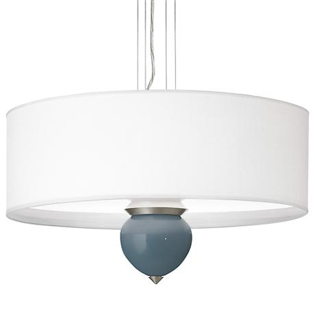 "Smoky Blue Cleo 24"" Wide Pendant Chandelier"