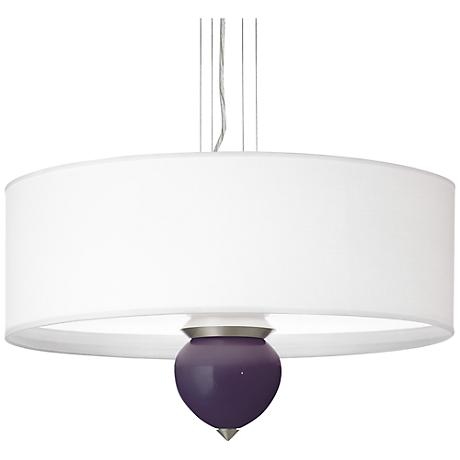 "Quixotic Plum Cleo 24"" Wide Pendant Chandelier"