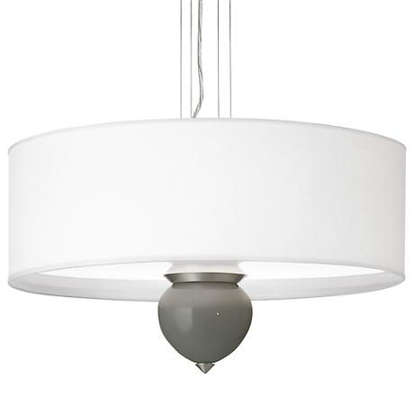 "Gauntlet Gray Cleo 24"" Wide Pendant Chandelier"