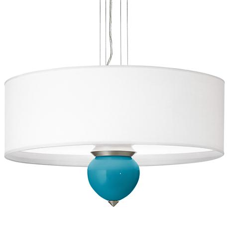 "Caribbean Blue Sea Cleo 24"" Wide Pendant Chandelier"