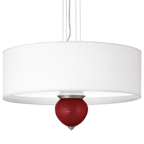 "Cabernet Red Metallic Cleo 24"" Wide Pendant Chandelier"