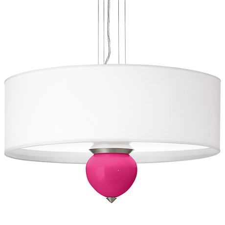 "Beetroot Purple Cleo 24"" Wide Pendant Chandelier"