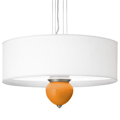 "Kids Stuff Orange Cleo 24"" Wide Pendant Chandelier"