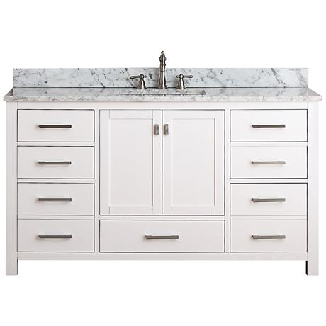 "Avanity Modero 60"" Wide White Single Sink Vanity"