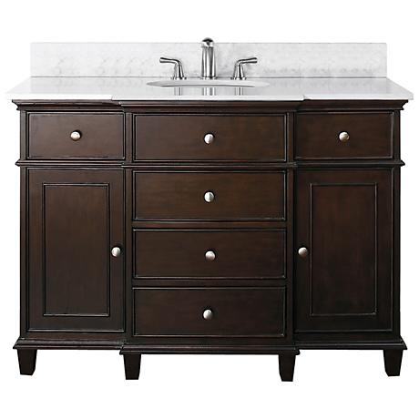 "Avanity Windsor 48"" Wide White Marble Sink Vanity"