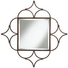 "Kylesa Four Leaf Clover 33"" Square Wall Mirror"