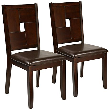 Lakeport Set of 2 Dark Espresso Side Chairs