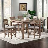 Aspen 5-Piece Iron Brush Pub Table Set