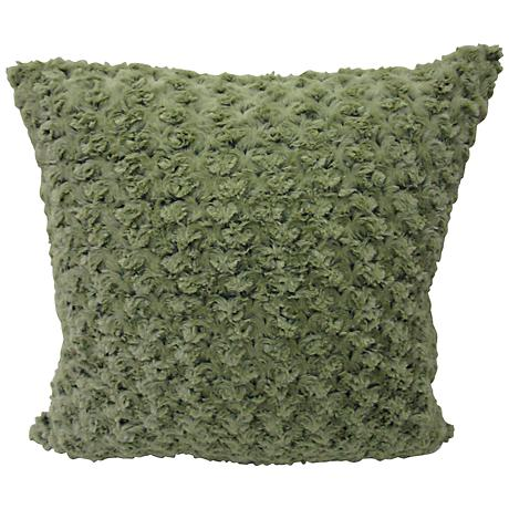 "Rose Petal Green 20"" Square Decorative Pillow"