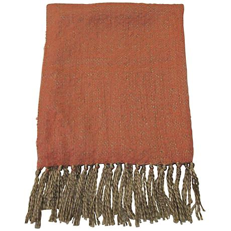 Gatsby Coral Decorative Throw Blanket