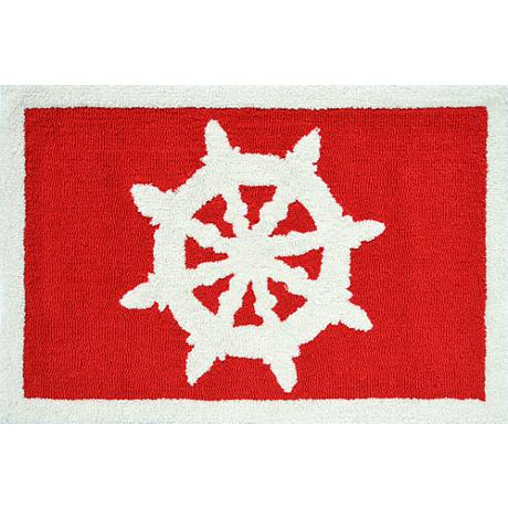 Helm Indoor or Outdoor Doormat in Red