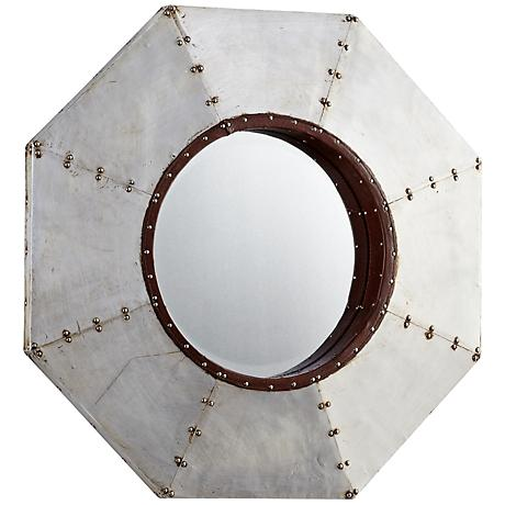 "Octo 24"" High Metal Wall Mirror"