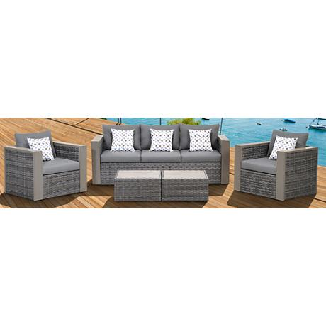 Atlantic 5-Piece Mustang Wicker Patio Set