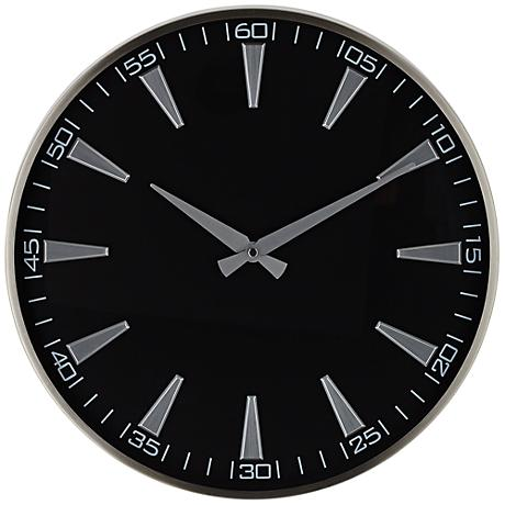 "Cormack 16"" Round Black Metal Wall Clock"