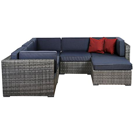 Atlantic 6-Piece Bellagio Gray Wicker Patio Seating Set