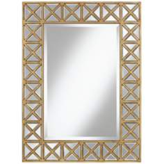"Genevieve Gold Frame 25 1/2"" x 34"" High Wall Mirror"