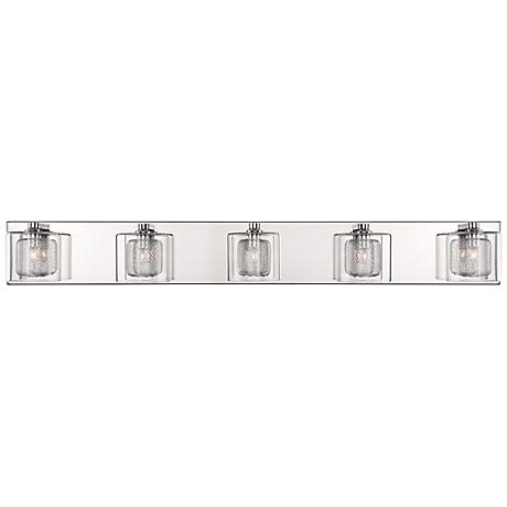 "Possini Euro Design Zatara 36 1/4"" Wide Chrome Bath Light"