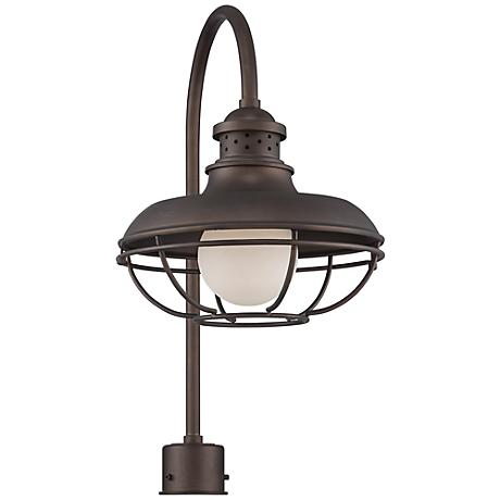 "Franklin Park Metal Cage 23 1/2"" High Bronze Post Light"