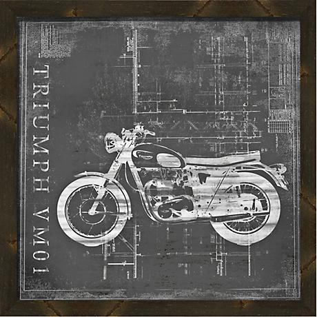 "Vintage Bike II 20"" Square Framed Wall Art"