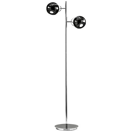 Nova Orbital Polished Chrome 2-Light Floor Lamp