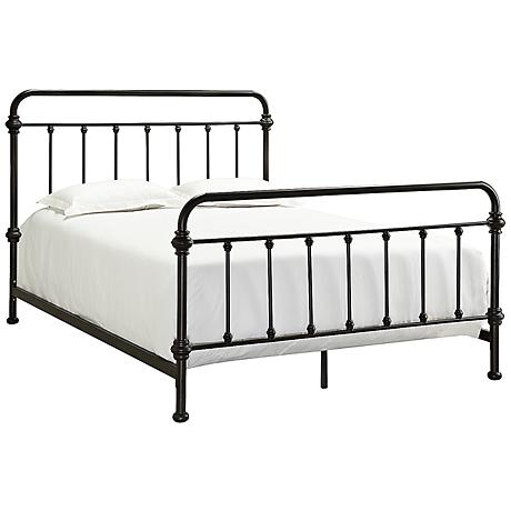 HomeBelle Margaret Brown Spindle Bed