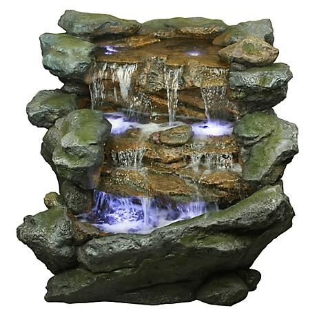 Yosemite LED Tiered Rock Cascading Fountain