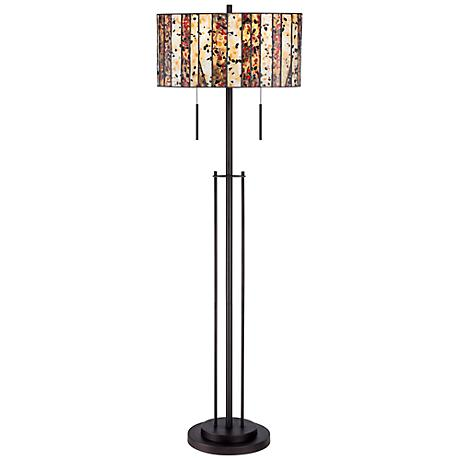Speckled Glass Tiffany Style Floor Lamp