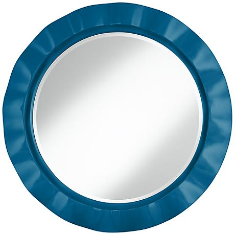 "Mykonos Blue 32"" Round Brezza Wall Mirror"