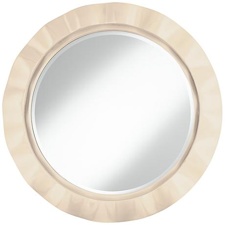 "Steamed Milk 32"" Round Brezza Wall Mirror"