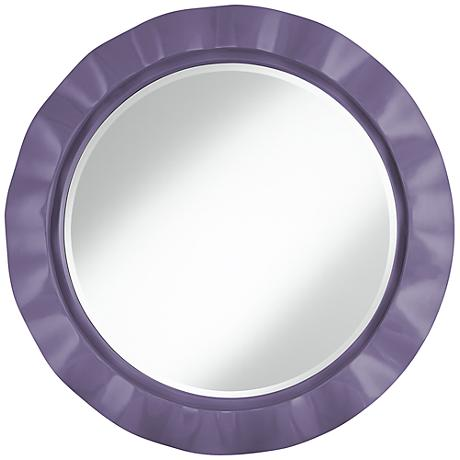 "Purple Haze 32"" Round Brezza Wall Mirror"