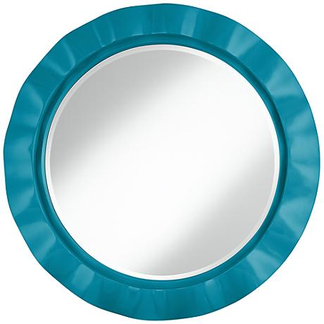 "Caribbean Sea 32"" Round Brezza Wall Mirror"